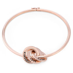 Rosé-vergulde slavenarmband met Russische ringen product photo