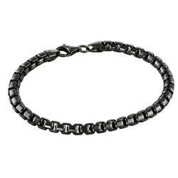 Gepersonaliseerde mannen-armband in zwart-zilveren uitvoering Productfoto