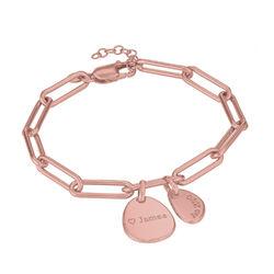 Chain Armband met gepersonaliseerde bedeltjes in rosé-vergulde Productfoto