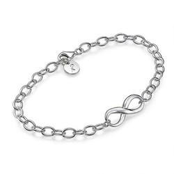 Infinity Armband met Bedeltje in 925 Zilver Productfoto