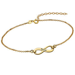 Graveerbare Infinity Armband in Goudkleur Productfoto