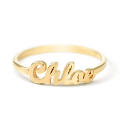 Vergulde Ring met Naam Productfoto