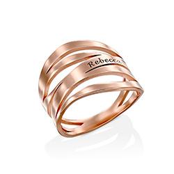 Margeaux Ring in 18K Rosé Goud Verguld Productfoto