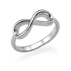 Infinity Ring in 925 Zilver Productfoto