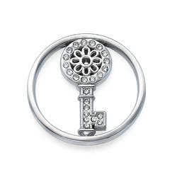 Zilveren Munt met Sleutel
