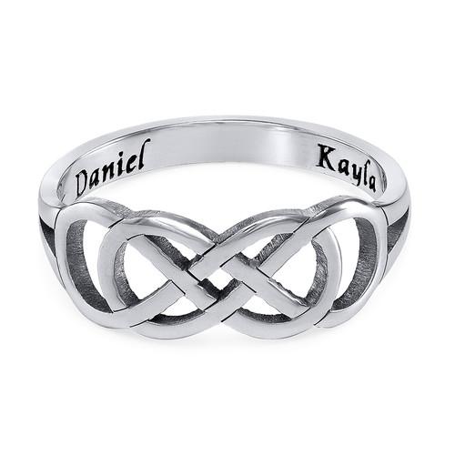 Dubbele Infinity Ring met Binnen Gravering