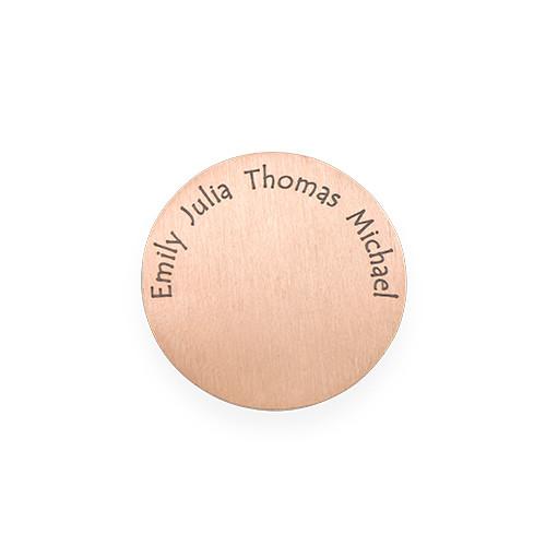 Floating Locket Schijf – Rose Goudkleurige Disc met Graveerbare Namen