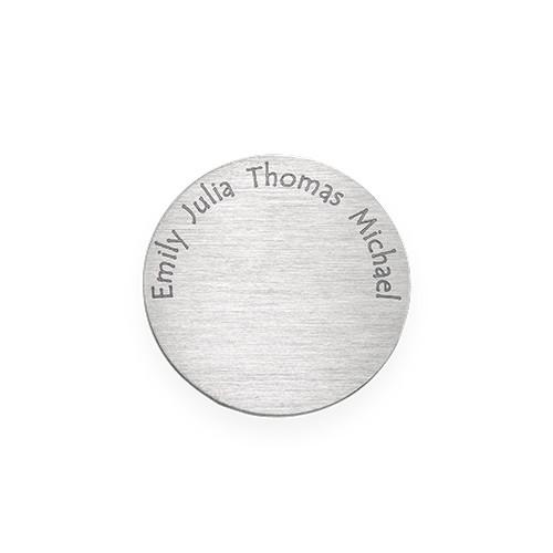 Floating Locket Schijf – Zilverkleurige Disc met Graveerbare Namen