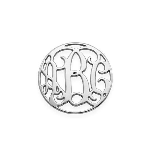 Floating Locket Schijf - Monogram Zilverkleurige Disc