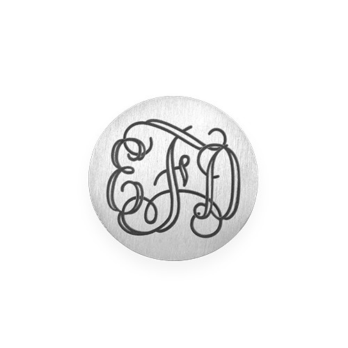 Floating Locket Schijf - Zilverkleurige Disc met Monogram