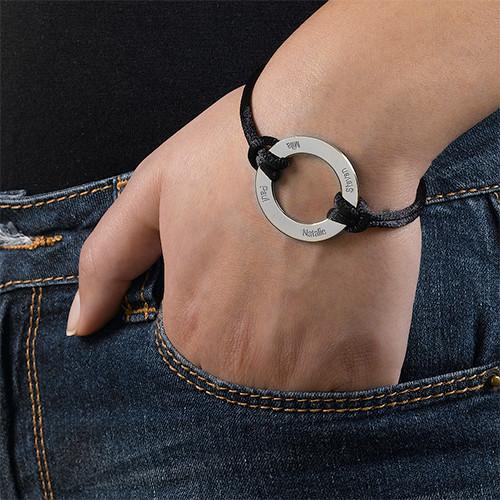 Gegraveerde Infinity Cirkel Armband in 925 Zilver - 2