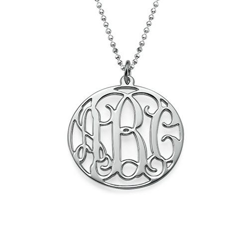Zilveren (0.925) Cirkel Monogram Ketting