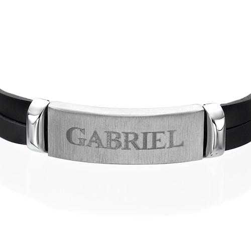 Gepersonaliseerde Leren Armband voor Heren - 1