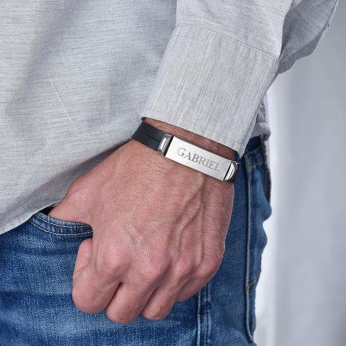 Gepersonaliseerde Leren Armband voor Heren - 3