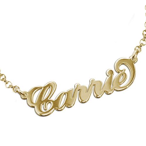 Carrie stijl Naam Armband / Enkelband in Goud Verguld Zilver - 1