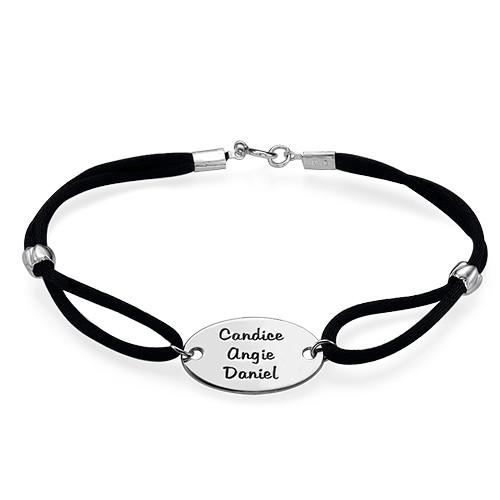 Graveerbare Ovalen Tag Armband - 1