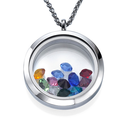 Floating Locket met Geboortestenen - 1