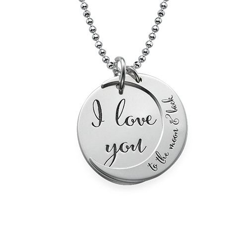 I Love You To The Moon And Back Ketting In 925 Zilver Mijnnaamketting