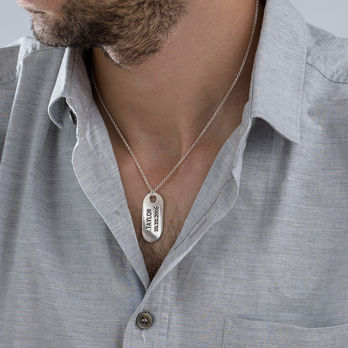 ID Tag Ketting in 925 Zilver - 2