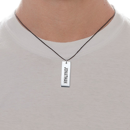"Stoere ""Dog Tag"" Ketting in 925 Zilver - 1"