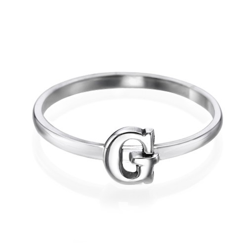 Letter Ring in 925 Zilver - 1
