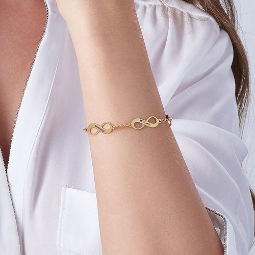 Meervoudige Infinity Armband in Goudverguld Zilver - 4