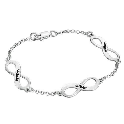 Meervoudige Infinity Armband in Zilver