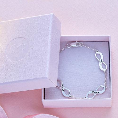Meervoudige Infinity Armband in Zilver - 5