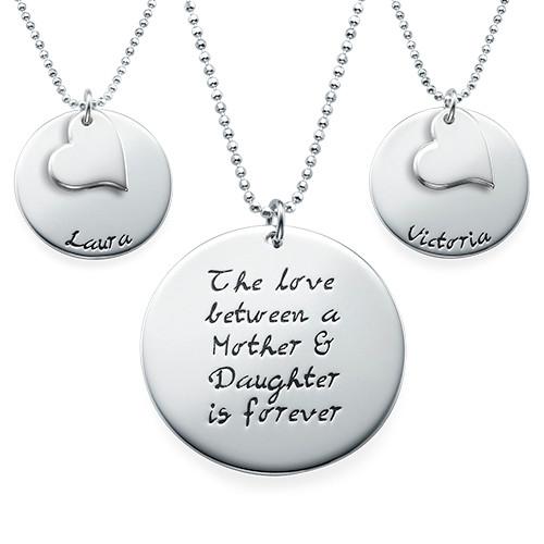 Moeder-Dochter Cadeau – Set van Drie Gegraveerde Kettingen