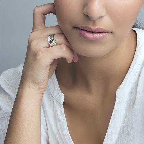 Moeder Ring met Geboortestenen in 925 Zilver - 3