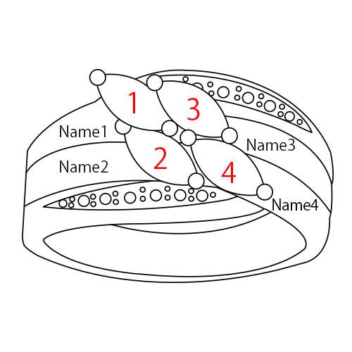 Moeder Ring met Geboortestenen in 925 Zilver - 4
