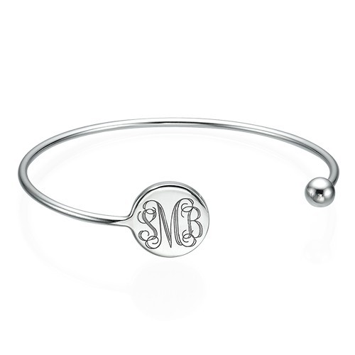 Monogram Bangle Armband in 925 Zilver - Verstelbaar