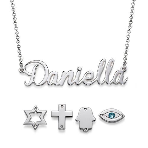 Naamketting met Amulet in 925 Zilver