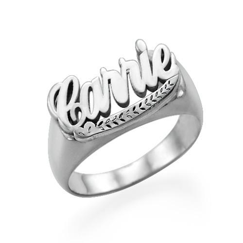 Naam Ring in 925 Zilver