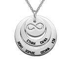 Persoonlijke Familie Ketting met Infinity Symbool