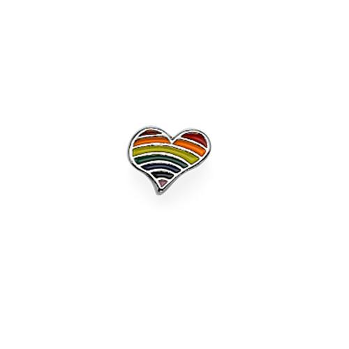 Regenboog hart Bedel voor Floating Locket