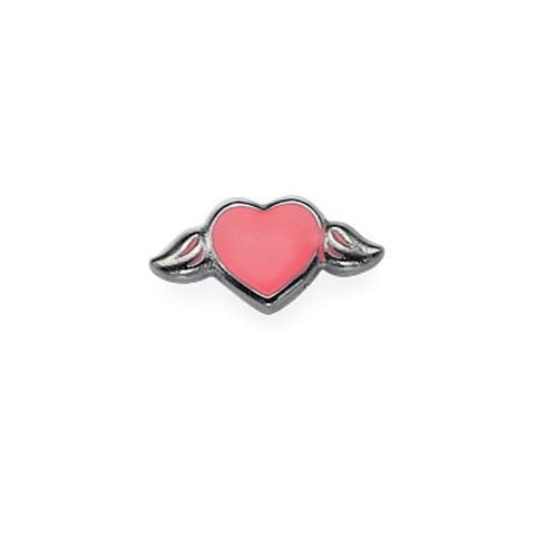 Roze hart Bedel voor Floating Locket