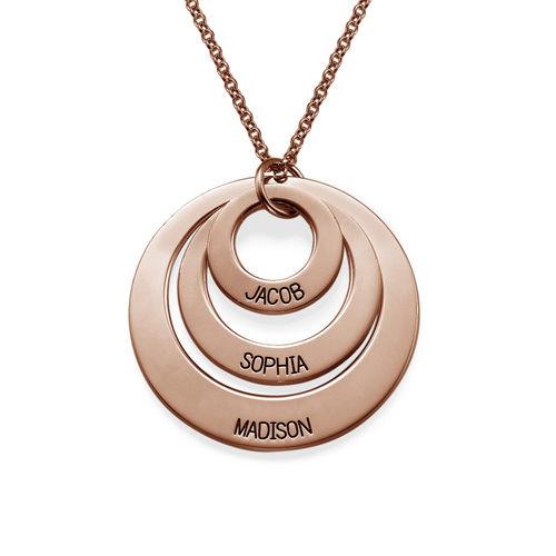 Sieraden voor Moeder - Ketting met drie schijven Roségoud Verguld Zilver