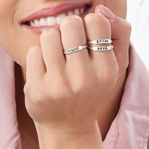 """Sterling zilveren """"Altijd Bij Jou""""- ring met slagletters - 4"""