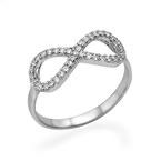 Kubische Zirkonia Infinity Ring in 925 Zilver