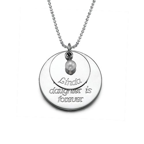 Persoonlijke Ketting van Dochter voor Moeder in 925 Zilver - 1
