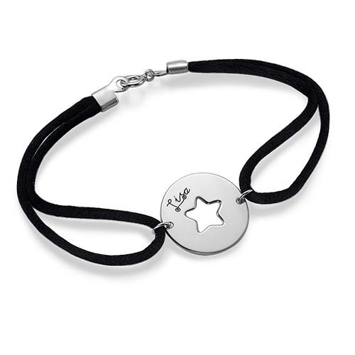 Uitgesneden Ster Armband in 925 Zilver