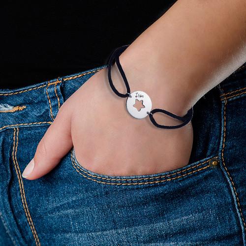 Uitgesneden Ster Armband in 925 Zilver - 2