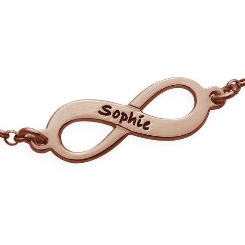 Vergulde armband met meerdere infinity-symbolen in roségoud verguld zilver - 1