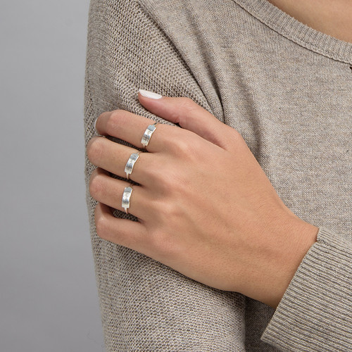 Zilveren Gegraveerde Ring met Naamplaat - 2