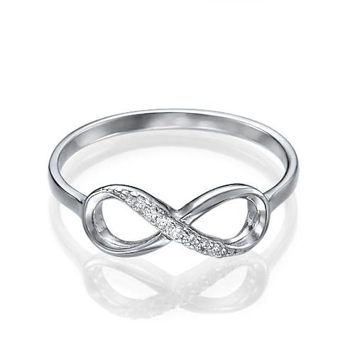 Kubische Zirkonia Infinity Symbool Ring in 925 Zilver - 1