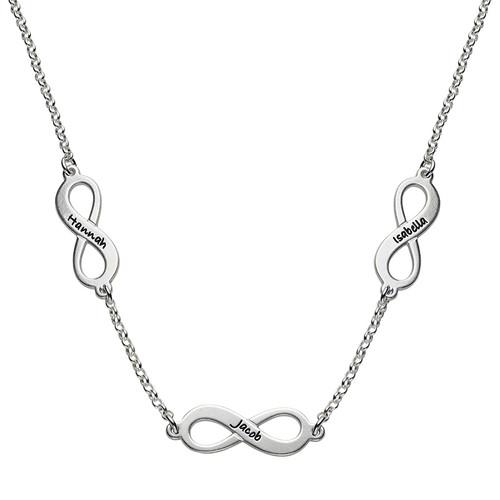 Zilveren Multi-Infinity Ketting