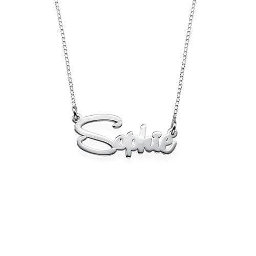 Say My Name Ketting in 925 Zilver