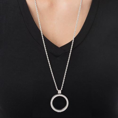 Zilveren Muntmedaillon met Cubic Zirkonia - 2