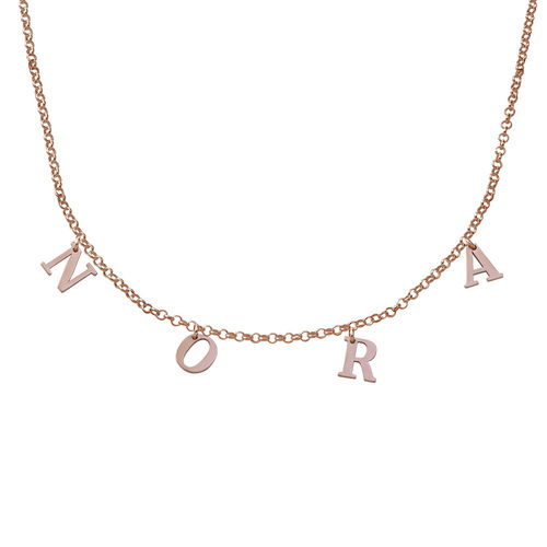 18K Rosé-Vergulde Naam Chokerketting